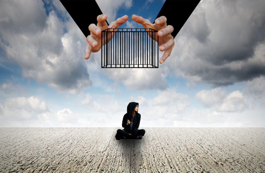 Obsessions and compulsions are the prison bars for someone feeling trapped in a relationship with OCD
